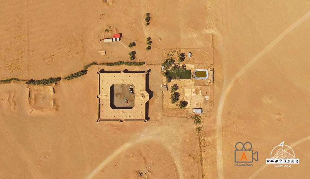 عکس هوایی کاروانسرای مرنجاب